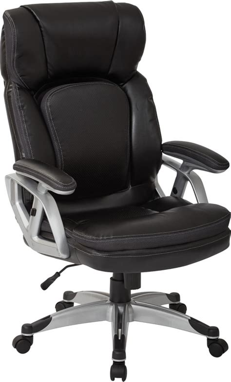 work smart executive bonded leather office chair with
