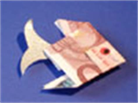 fische aus geld basteln originelle ideen f 252 r geldgeschenke basteln gestalten