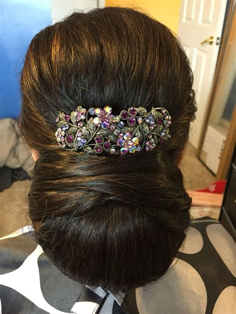 mother   bride hairstyle indian hairstyle  bun