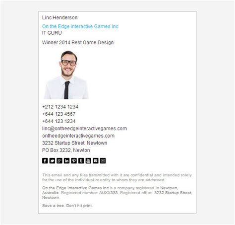 16+ Corporate Email Signature Templates  Free Samples