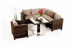 Rattan Lounge Set Braun : pandora rattan lounge mixed braun ein 8 teiliges gartenm bel set geeignet f r terrasse ~ Bigdaddyawards.com Haus und Dekorationen