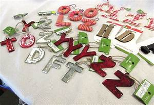 new lot of target alphabet letters christmas tree With letter ornaments target