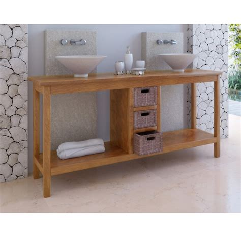 meuble de chambre de bain meuble de salle de bain teck kuta 3 tiroirs