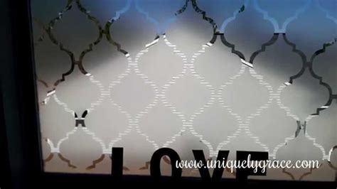 Window Treatment Ideas For Bathroom by Window Treatment Under 10 Faux Frosted Glass Tutorial