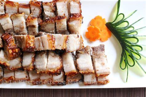 cuisiner poitrine de porc porc laqué croustillant thịt heo quay la kitchenette