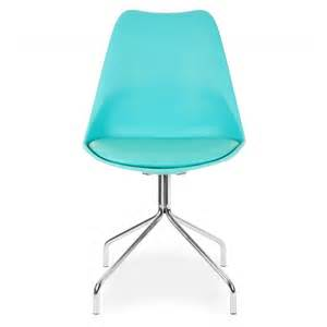 Chaise Eames Bleu Aqua by Style Turquoise Dining Chairs Metal Cross Legs