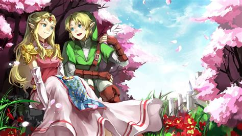 The Legend Of Zelda Images Link And Zelda Hd Wallpaper And