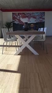 Schiebegardine 300 Cm Lang : eetkamertafel 100 cm breed tot 300 cm lang met houten x poten r de b meubels op maat ~ Markanthonyermac.com Haus und Dekorationen