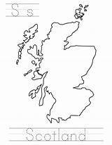 Scotland Coloringpages Countries Trace Index 164k sketch template