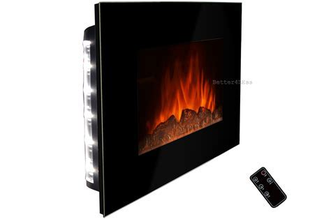 "36"" Wall Mount Electric Fireplace Heater Radiator Log"