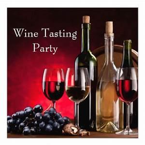 Wine Glasses Bottles Wine Tasting Party 5.25x5.25 Square ...