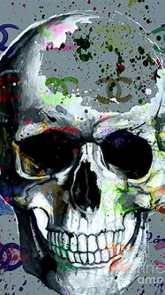 Chanel Skull Abstract 2 Mixed Media by To-Tam Gerwe