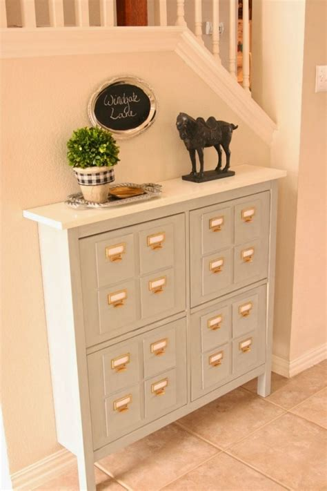 white entry table with drawers space saving entryway design with white ikea hack foyer