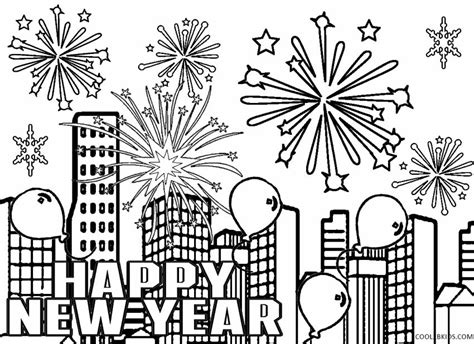 Amazing Coloring Pages New Year Happy New Years Coloring Page
