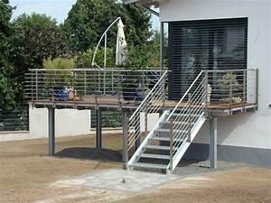 socam nos realisations With terrasse en acier galvanise