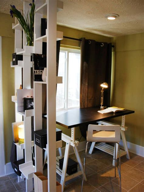 thin shelves ikea small space home offices hgtv