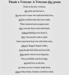 Meaningful Veterans Day Poem