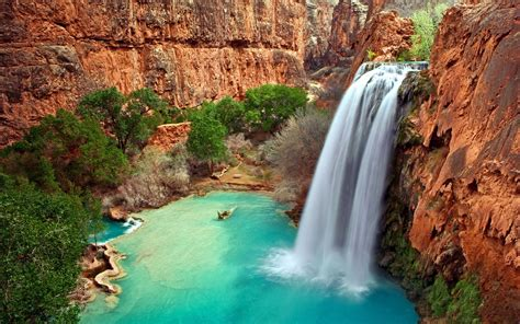 water, Cliff, Waterfall, Nature Wallpapers HD / Desktop ...
