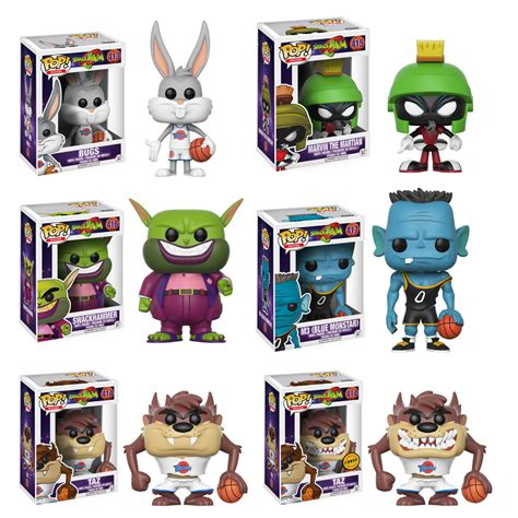 Upper Deck Customer Service by Space Jam Complete Set W Chase 6 Funko Pop