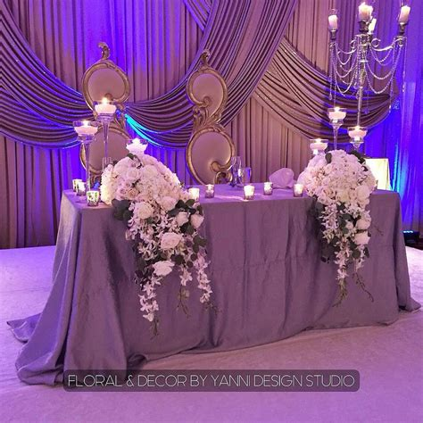 Purple Wedding Sweetheart Table Check Out More
