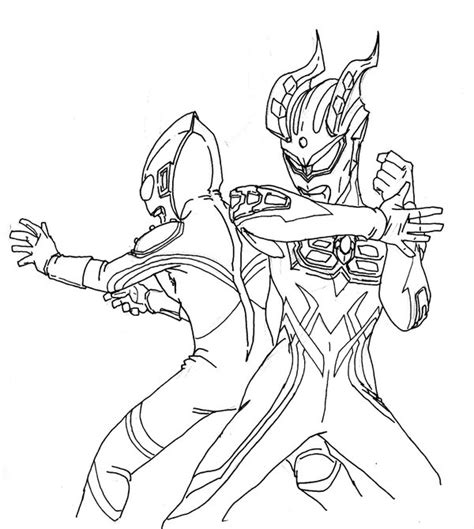 ultraman coloring  coloring pages