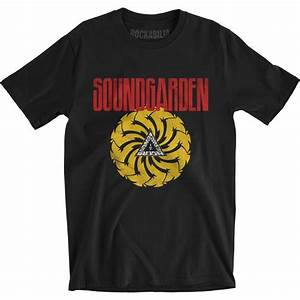 Rockabilia Size Chart Soundgarden Badmotorfinger Soft T Slim Fit T Shirt