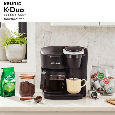 Haz tus compras en línea en walmart méxico a un súper precio y recibe tus productos y súper a domicilio. Keurig K-Duo Essentials Coffee Maker, with Single Serve K-Cup Pod and 12 Cup Carafe Brewer ...