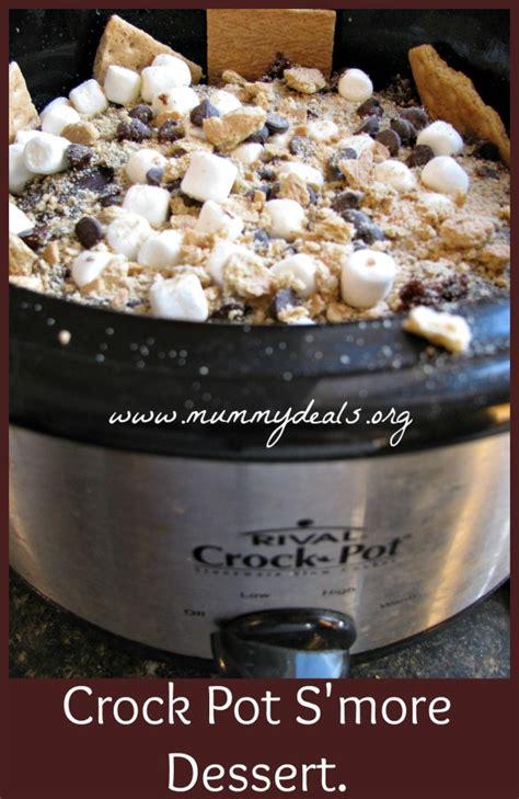 desserts in a crockpot crock pot s mores cake from clair mummy deals recipe crockpot slowcooker crocktober