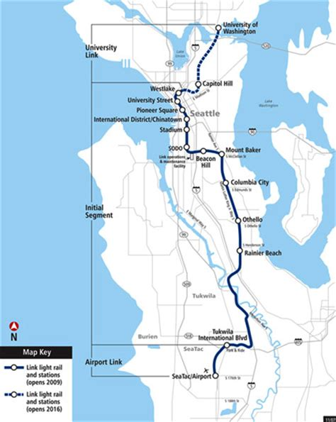 light rail seattle map seattle s light rail opens redefining in the city