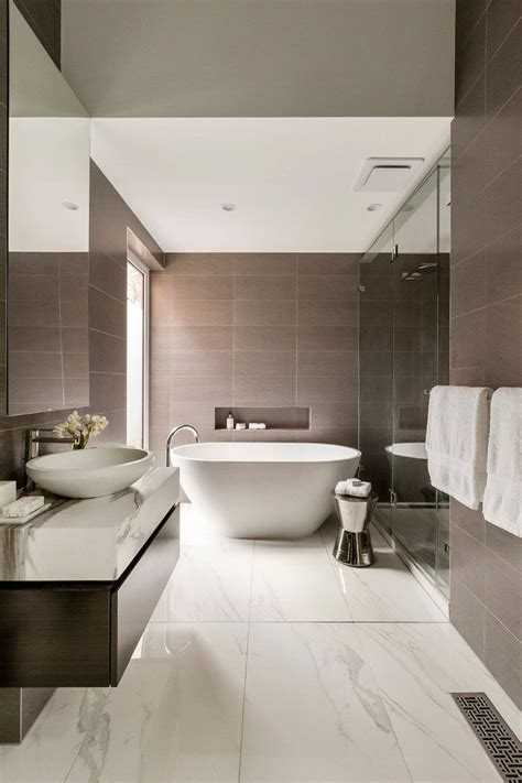 We definitely have a thing for tile floors.tile is a popular choice for bathroom floors because it's durable, easy to clean and also a beautiful design element. Bathroom Tile Idea - Use Large Tiles On The Floor And Walls (18 Pictures)