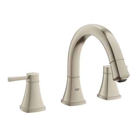 Brushed Nickel Tub Faucet by Grohe Grandera 2 Handle Deck Mount Tub Faucet In
