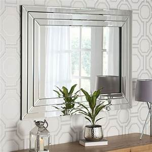 Contemporary, Silver, Mirrored, Wall, Mirror