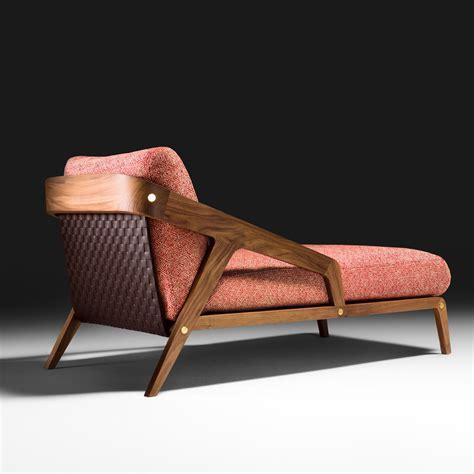 contemporary walnut designer chaise longue