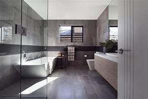 salle de bain avec carrelage gris anthracite With salle de bain avec carrelage gris