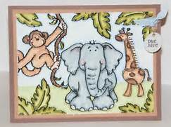 Hand Stamped By Lacey  God made the animals   Baby Shower Invitation  Jungle Drawing With Animals