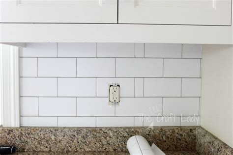 white subway tile temporary backsplash  full tutorial