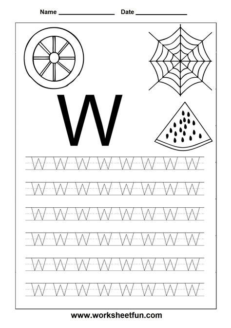 Free Printable Worksheets Letter Tracing Worksheets For Kindergarten  Capital And Small