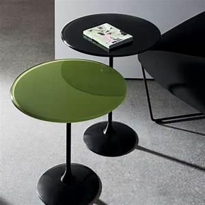 Gueridon En Verre : table gu ridon en verre tulip 4 pieds tables chaises et tabourets ~ Teatrodelosmanantiales.com Idées de Décoration