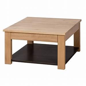 Table Carree Chene : table basse carr e ch ne massif evian ~ Teatrodelosmanantiales.com Idées de Décoration