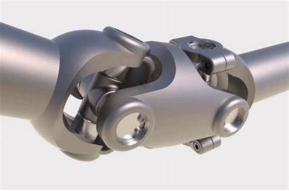 Joint Cad Cardan Double Propshaft Universal 3d