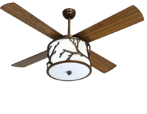 Ceiling Fan With Light Kit And Remote, Dark Coffee, 56