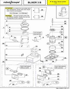 Robot Coupe Blixer 3 B Blender-mixer Spare Parts