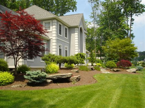 Backyard Of House by Landscaping Ideas For The Front Yard Colors And