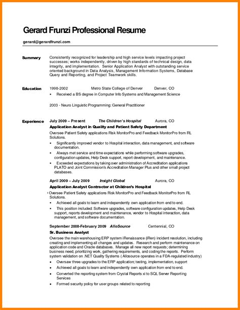 resume summary exles objective resume summary