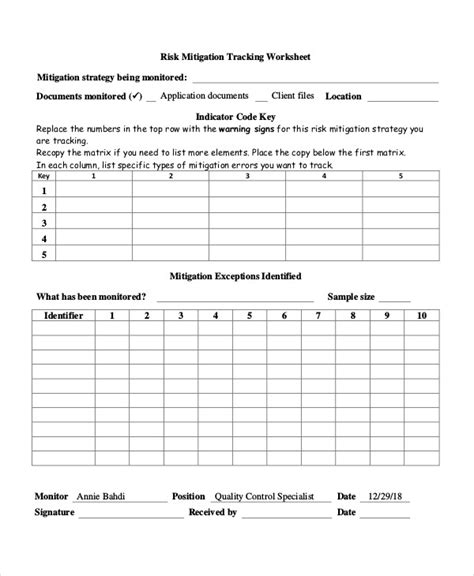risk and mitigation plan template risk plan templates 8 free word pdf format free premium templates