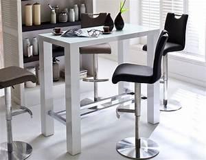 Table Haute En Verre : table haute blanc laqu design avec plateau en verre pova table haute pinterest table ~ Teatrodelosmanantiales.com Idées de Décoration