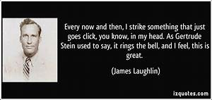 Every now and t... James F Bell Quotes