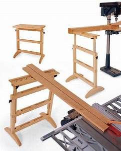 Work Support Stand Woodworking Plan, Shop Project Plan