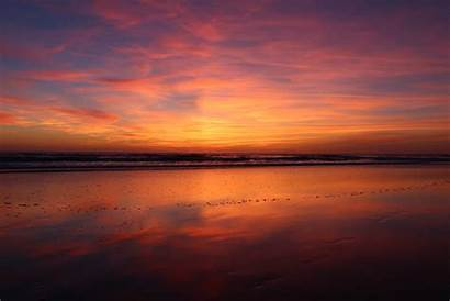 Sunset 4k Beach Evening Wallpapers Nature Backgrounds