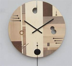 Wooden wall clock with an exclusive design essential for Wooden wall clock designs